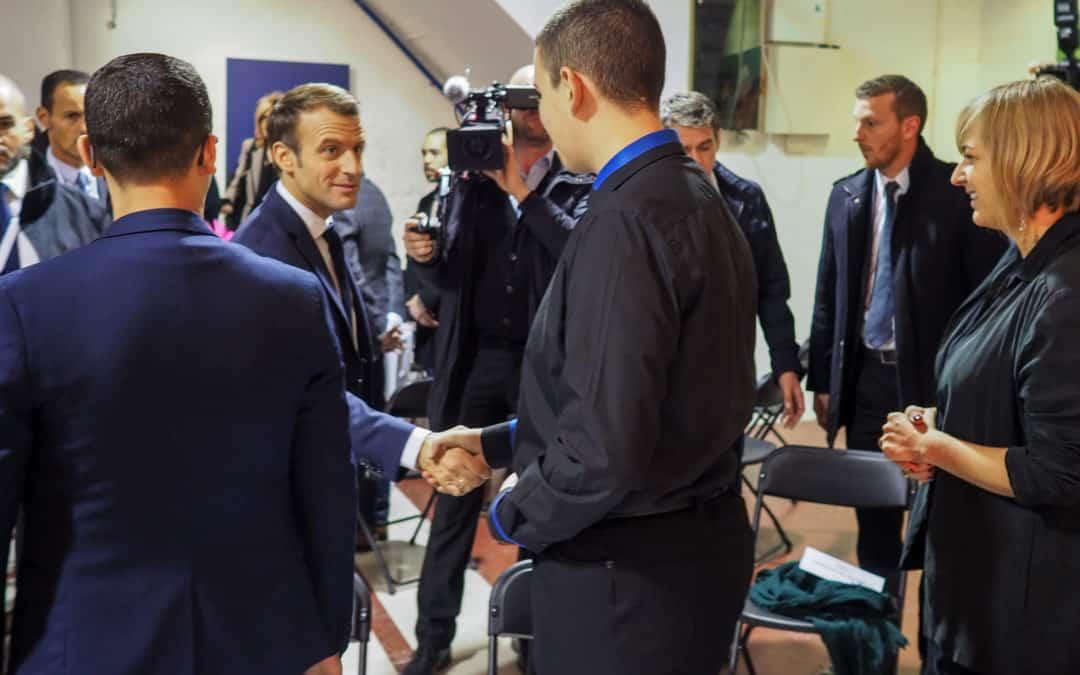 Het paar Macron bezoekt Molenbeek en ontmoet een TADA-delegatie