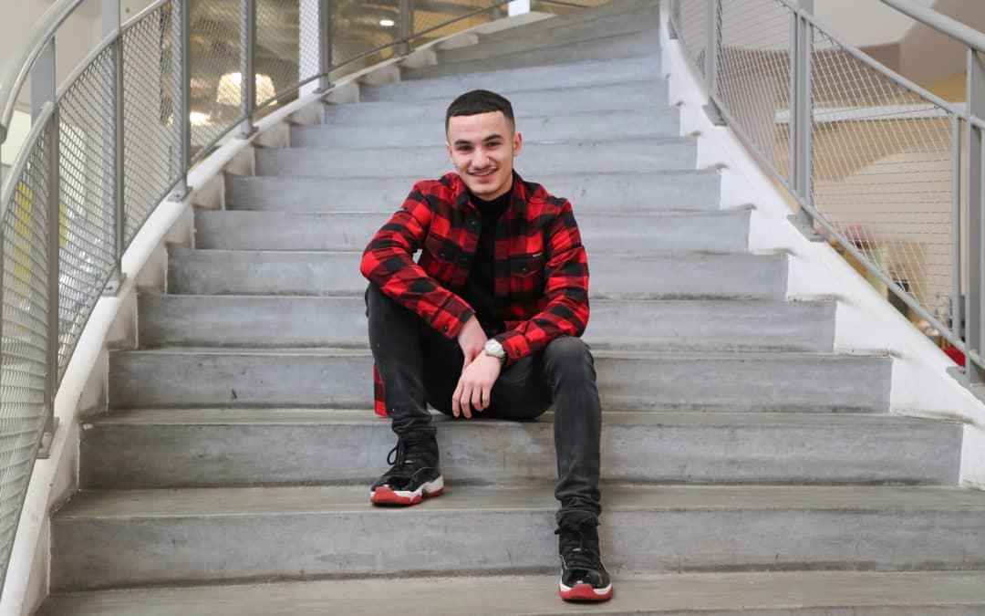 Abdullah, 17 ans, premier alumni de TADA à l'univ'
